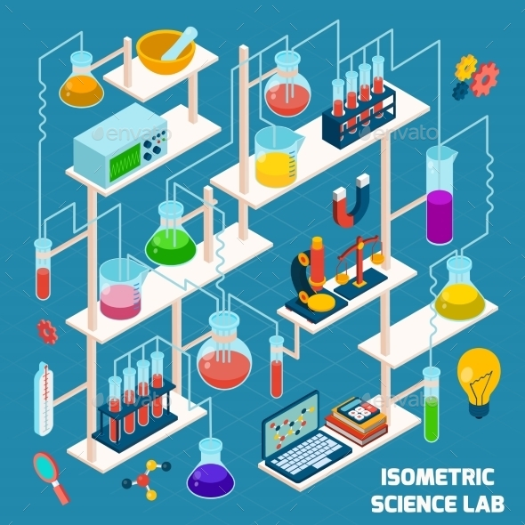 GraphicRiver Isometric Science Lab 10526779