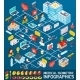 Medical Isometric Infographics - GraphicRiver Item for Sale