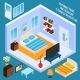Isometric Bedroom Interior - GraphicRiver Item for Sale