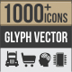 1000+ Glyph Vector Icons - GraphicRiver Item for Sale