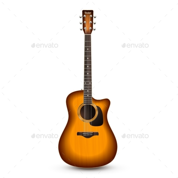 GraphicRiver Guitar Realistic Isolated 10526894