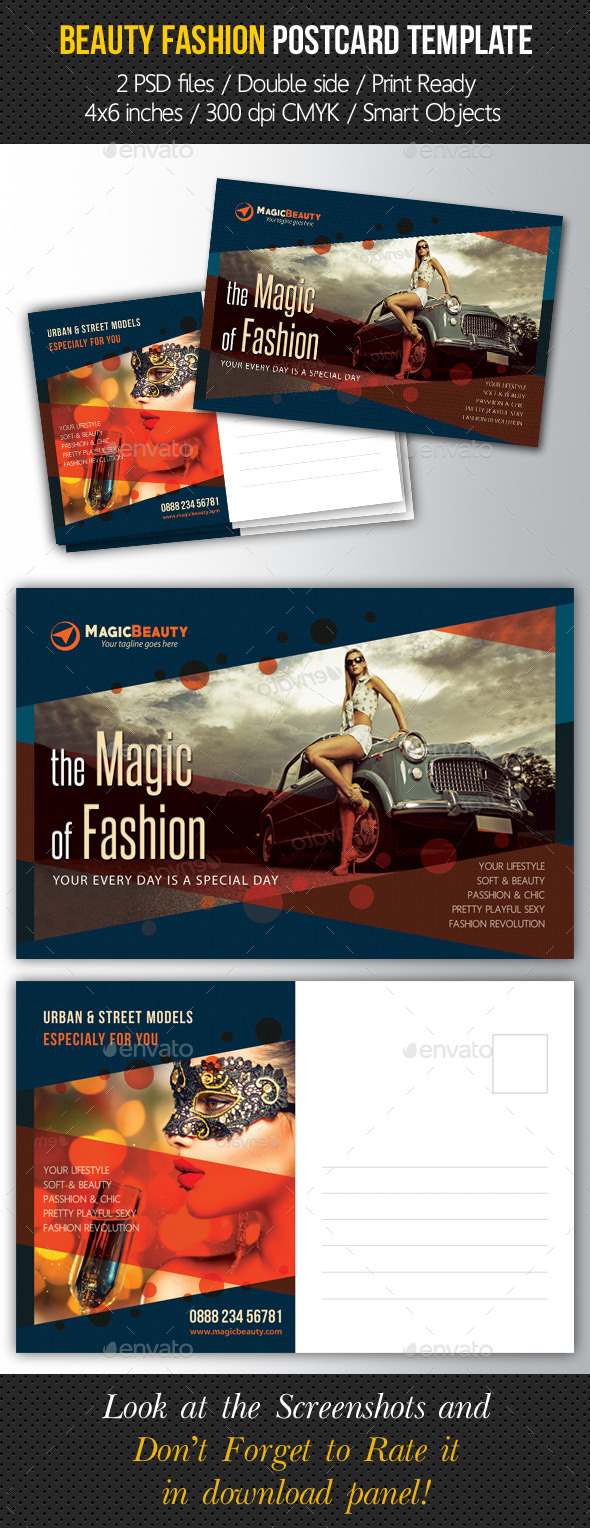 GraphicRiver Beauty Fashion Postcard V03 10526964