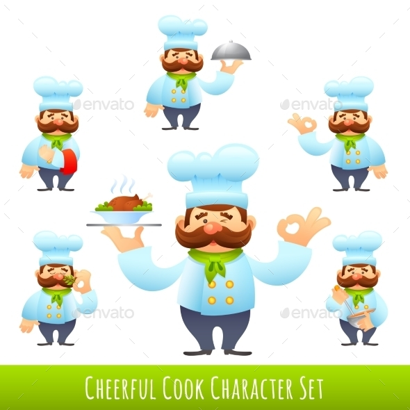 GraphicRiver Cook Cartoon Characters 10527000