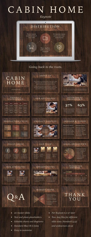 GraphicRiver Cabin Home Keynote Template 10476663