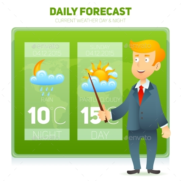 GraphicRiver Tv Weather News Reporter 10527029