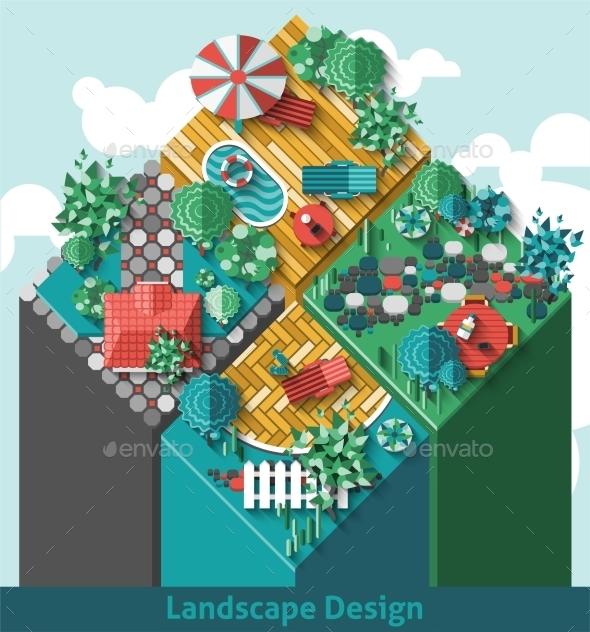 GraphicRiver Landscape Design Concept 10527046