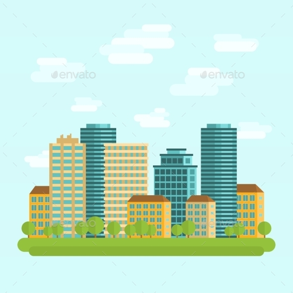 GraphicRiver City Downtown 10527060