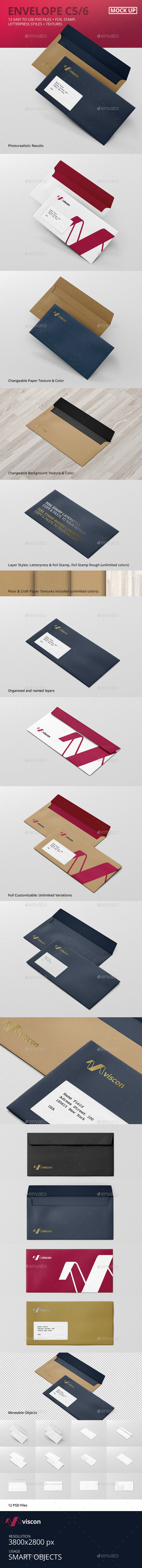 GraphicRiver Envelope C5 6 Mock-Up 10527135