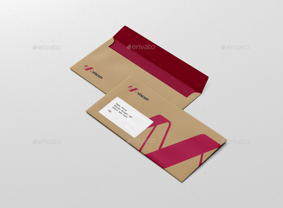 Envelope C5 6 Mock Up By Visconbiz Graphicriver