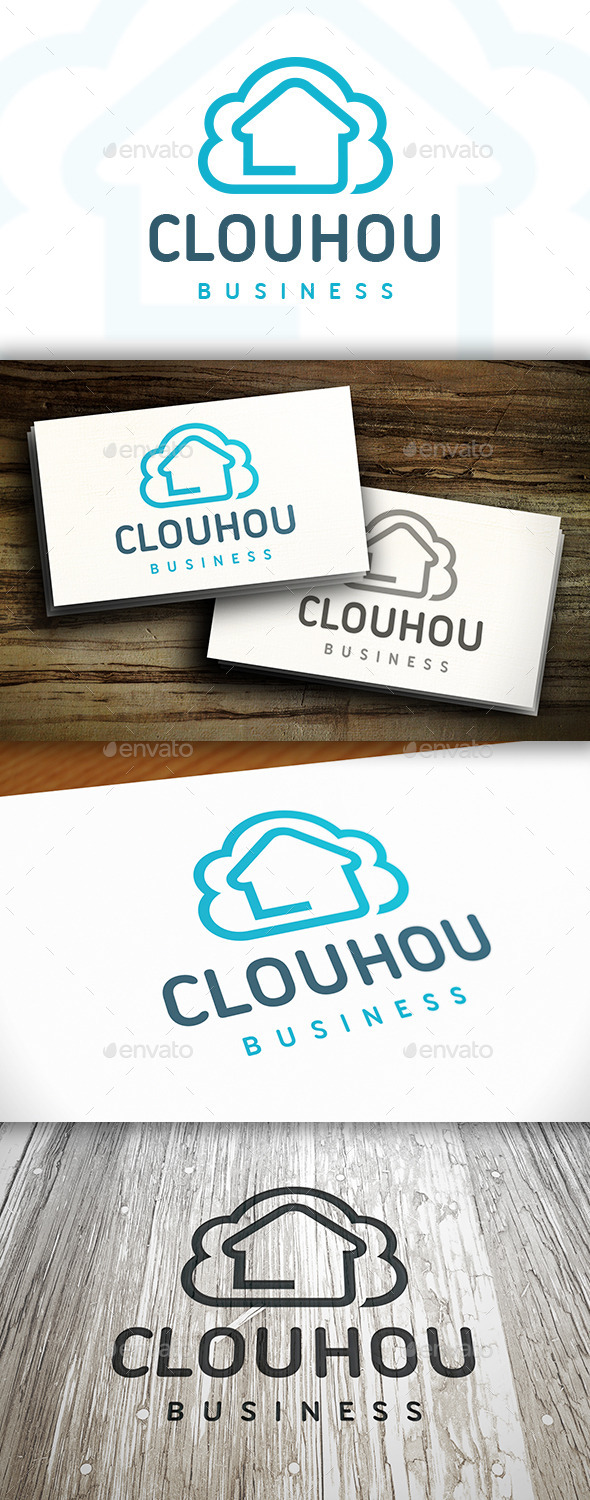 GraphicRiver Cloud House Logo 10527139