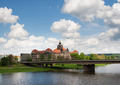 Panoramic view of Dresden and the river Elbe