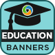 Education Banners - GraphicRiver Item for Sale