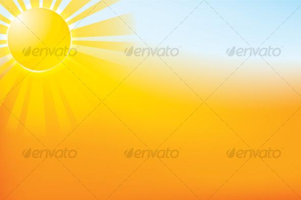 GraphicRiver Sun Landscape 42707