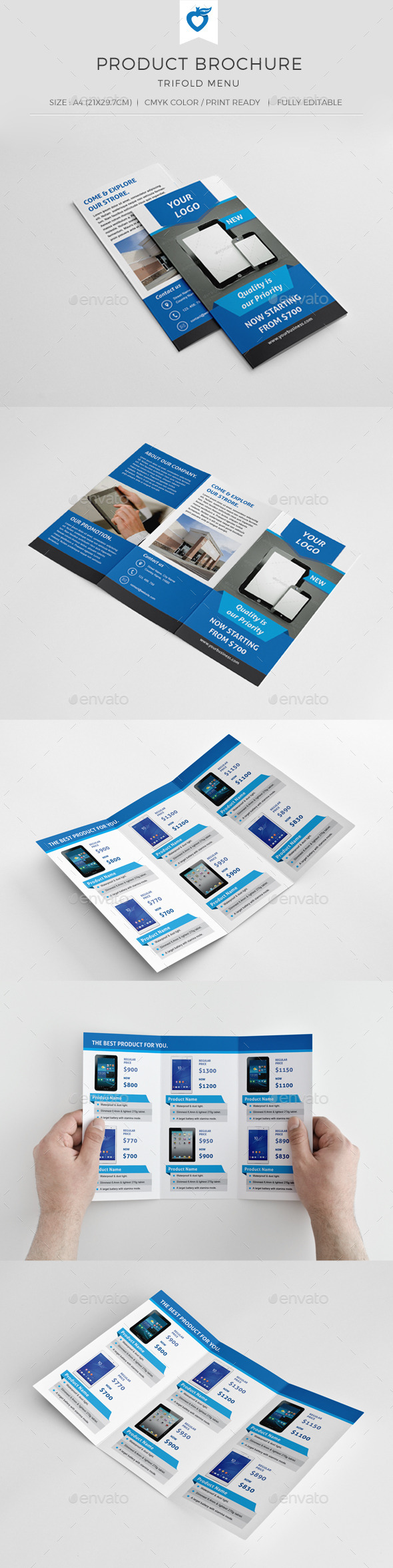 GraphicRiver Product Trifold Brochure 10527444