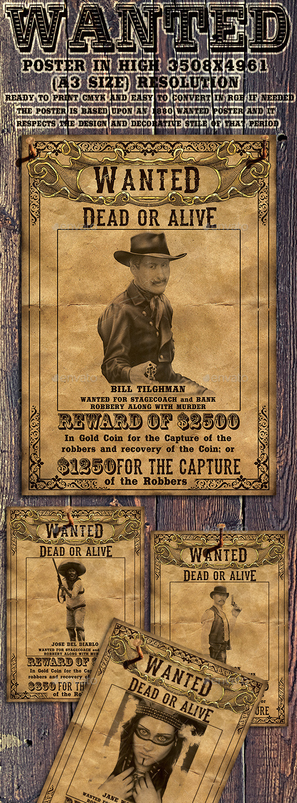 GraphicRiver Wild West Wanted Poster 10527744