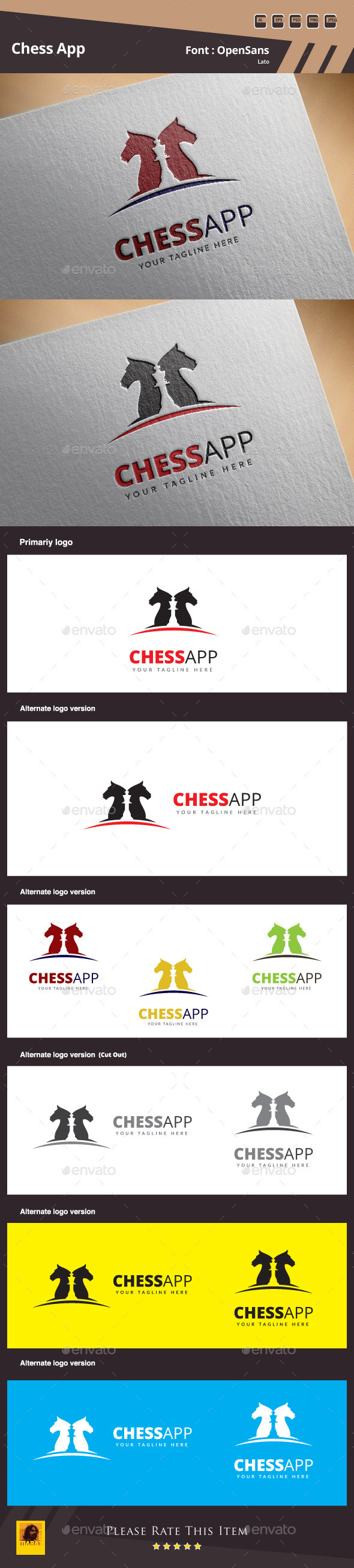 GraphicRiver Chess App Logo Template 10527783