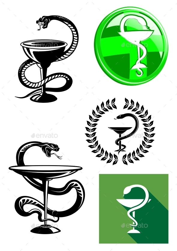 GraphicRiver Medicine and Pharmacy Icons 10527818