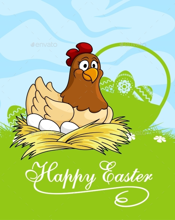 GraphicRiver Happy Easter Card 10527874