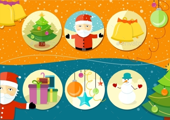 GraphicRiver Christmas and New Year Icons 10527906