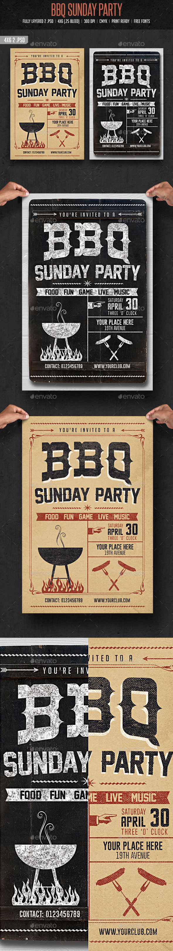 GraphicRiver BBQ Sunday Party 10527953
