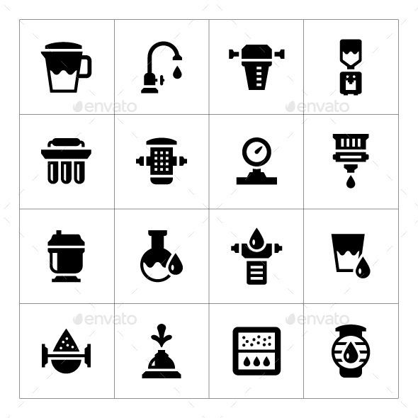 GraphicRiver Set Icons of Water Filters 10528331