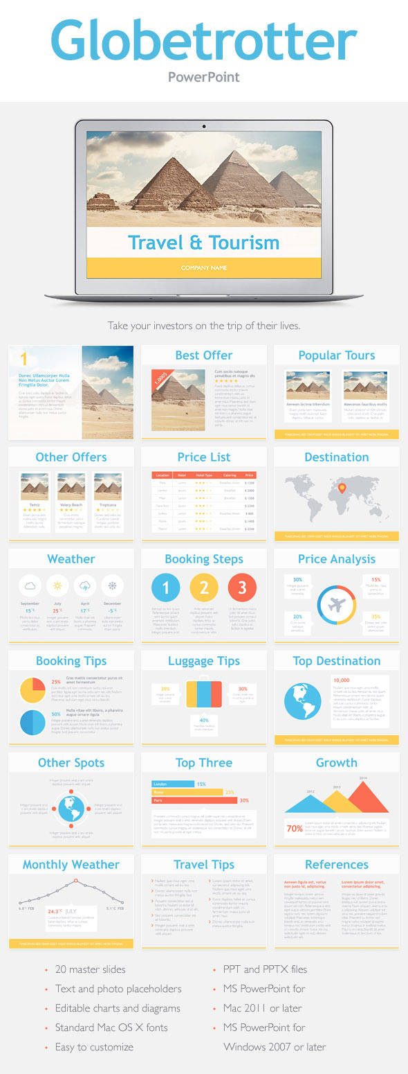 GraphicRiver Globetrotter PowerPoint Template 10489011