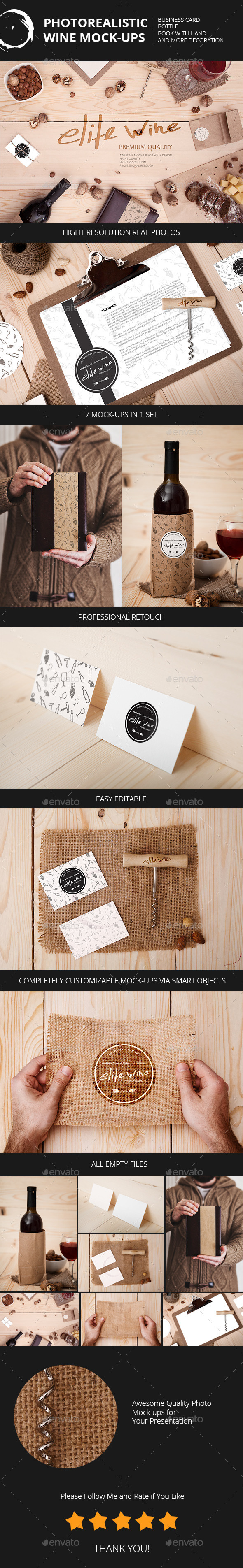 GraphicRiver Wine Themes Mock-Ups 10467459