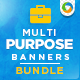 Multipurpose Banners Bundle - 6 sets - GraphicRiver Item for Sale