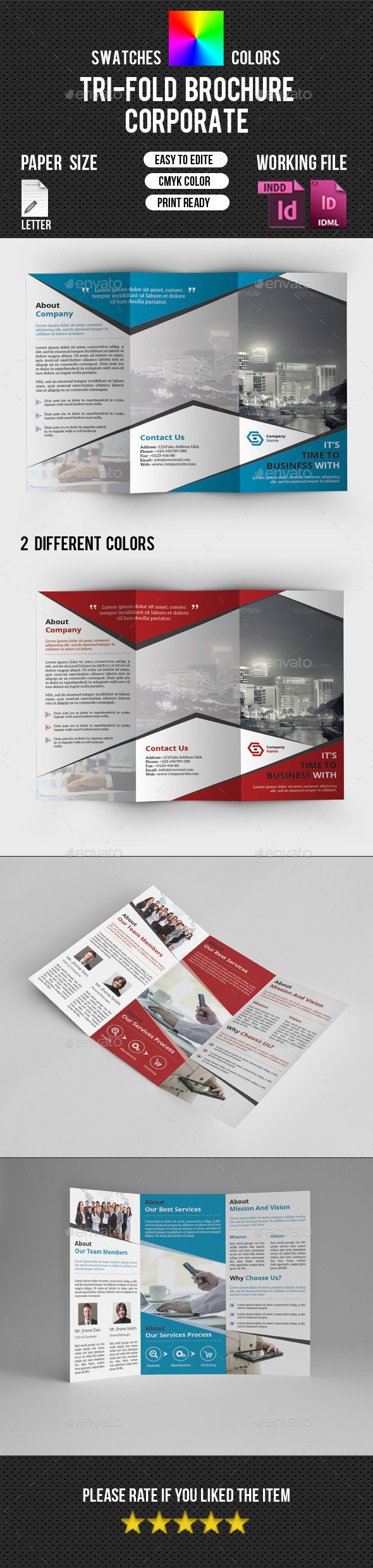 GraphicRiver Corporate Trifold Brochure-V225 10529379