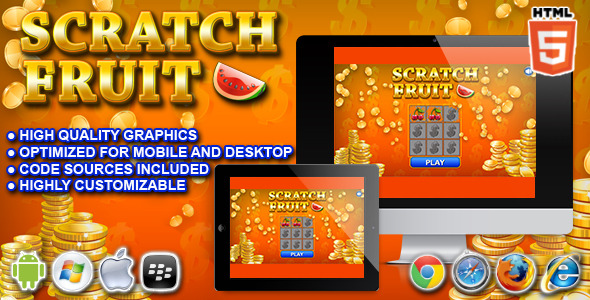 CodeCanyon Scratch Fruit HTML5 Casino Game 10478935
