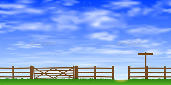 GraphicRiver Gate and Fence 10529751