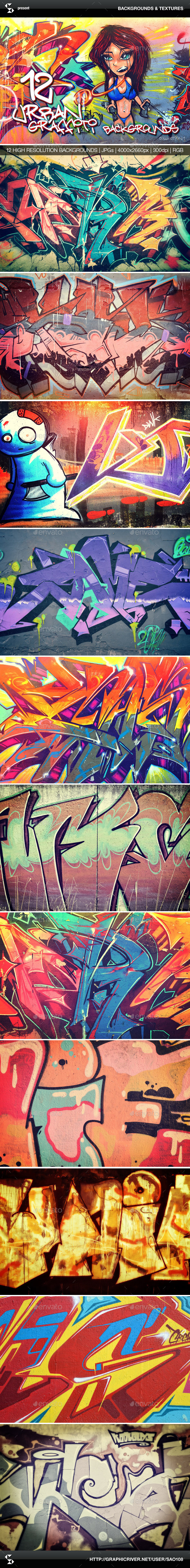 GraphicRiver Urban Graffiti Backgrounds Collection 1 10529770