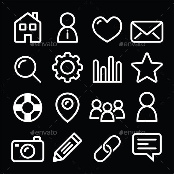 GraphicRiver Website Menu Navigation Icons 10529773