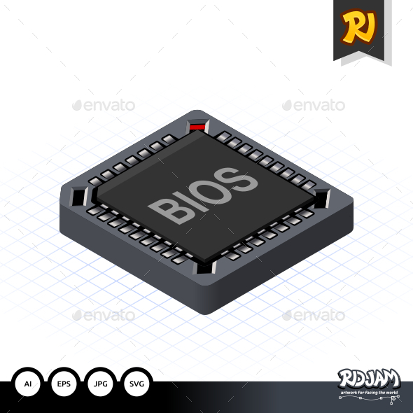 GraphicRiver Isometric BIOS Chip 10508861