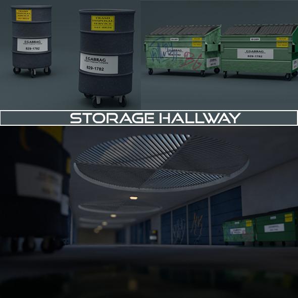 3DOcean Storage Hallway 10529818