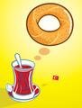 Turkish Tea and Bagel - PhotoDune Item for Sale