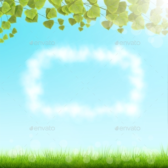 GraphicRiver Cloud Frame On Sky Background 10530183