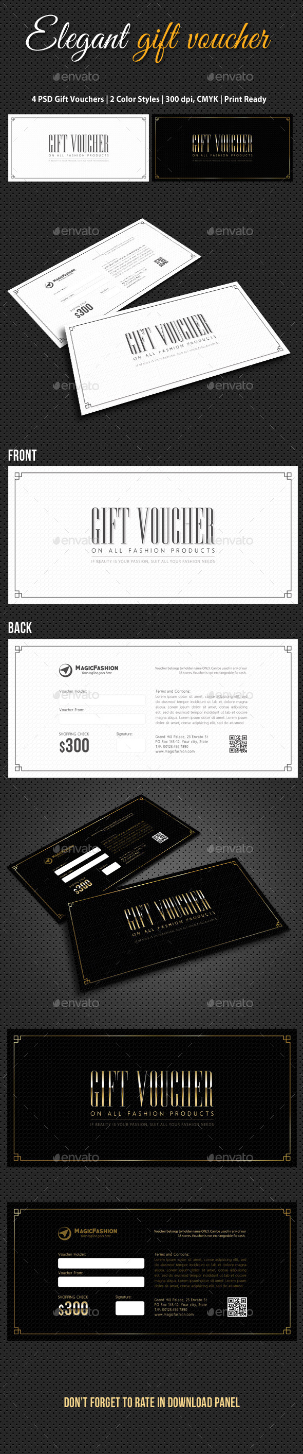 GraphicRiver Elegant Gift Voucher V02 10530239