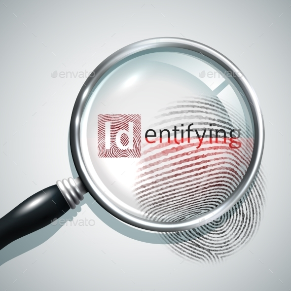 GraphicRiver Fingerprint Search Illustration 10530243