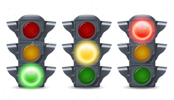 GraphicRiver Traffic Lights Set 10530253