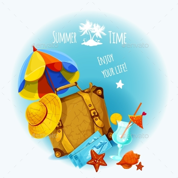 GraphicRiver Summer Vacation Background 10530260