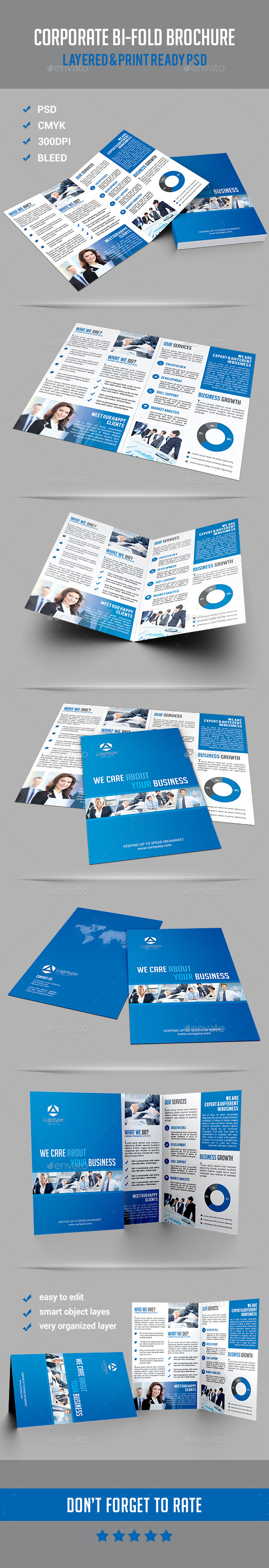GraphicRiver Corporate Bi-Fold Brochure 10530263