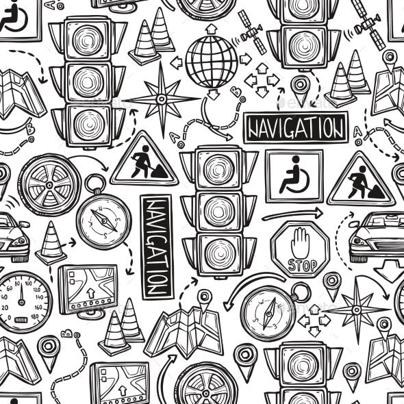 GraphicRiver Navigation Seamless Pattern 10530266
