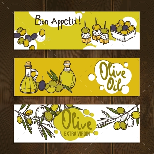GraphicRiver Olive Banners Set 10530274