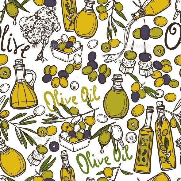 GraphicRiver Olive Seamless Pattern 10530289