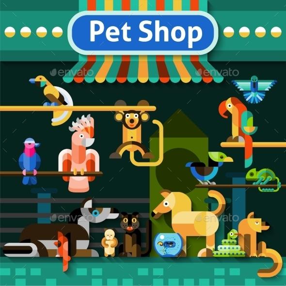 GraphicRiver Pet Shop Background 10530292