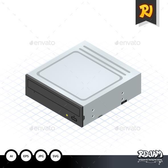 GraphicRiver Isometric Disc Drive 10509038