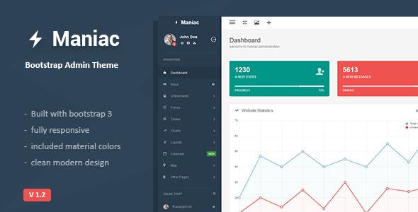 Maniac Bootstrap Admin Theme