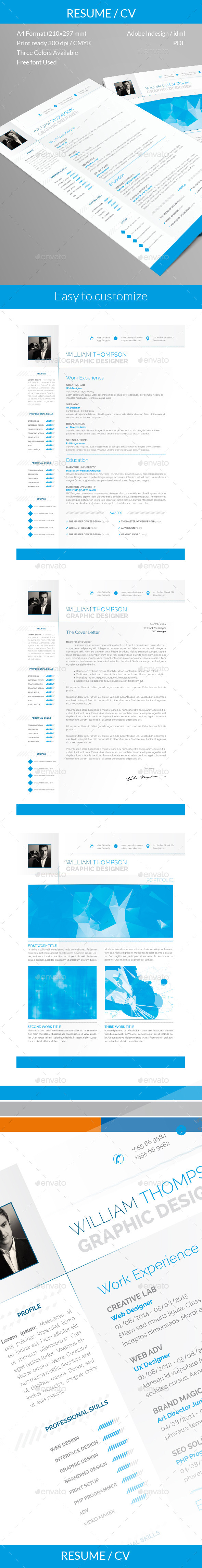 GraphicRiver Resume CV # HireMe2 10481649