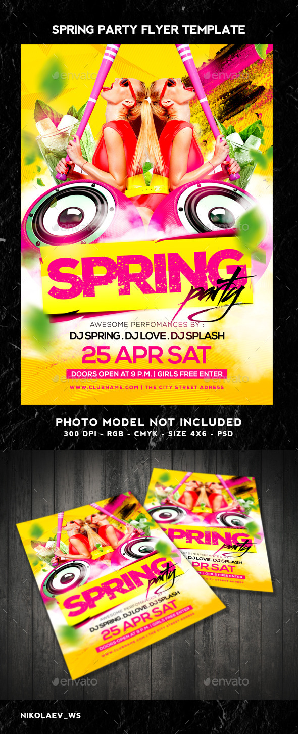 GraphicRiver Spring Party Flyer 10531176